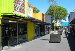 Christchurch's new mall created from shipping containers.
